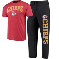 Men s Concepts Sport Heathered Charcoal Heathered Red Kansas City Chiefs  Holiday T-Shirt  amp 207f95fc8
