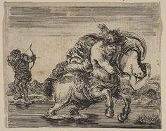 Etched by Stefano della Bella | Hercules and Deianira, from 'Game of Mythology' (Jeu de la Mythologie) | The Met