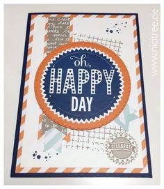 Stampin Up! Birthday Card, Geburtstagskarte, Timeless Textures, Starburst Sayings, Männertauglich, IN(K)SPIRE_me # 232 - NiciTree - Schönes aus Stoff und Filz