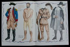 """Colonial American Man"" A Paper Doll by Norma Lu Meehan"