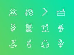 The Agriculture & Ecology Icons 100 by last spark
