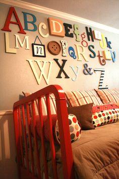 "alphabet wall from ""A work in progress""."