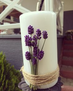 #lawenda #dekoracje #wesele #gdańskapracowniaślubów #wedding #weddingdecor #photography #photo #lavender #weddingplanner Pillar Candles, Christening, Lavender, Shabby, Wedding Ideas, Spring, Handmade, Diy, Home Decor