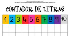 Contador de letras.pdf Material Didático, Name Puzzle, Name Activities, Letter B, Montessori, Homeschool, Teaching, Infant Activities, Literacy Activities