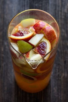 Citrus sangria recipe | edible perspective [I think I will substitute kombucha and juice for the booze part... yummy!]