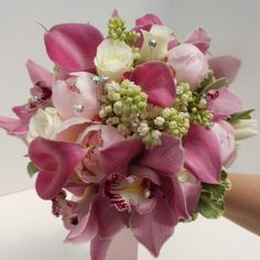 Orchids and Callas - can't get more sophisticated! #PromBouquet