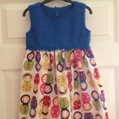 Spanish dress with knitted top and Russian doll cotton skirt. Mabel & Monkey.