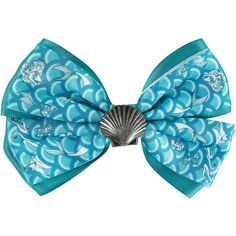Disney The Little Mermaid Shell Hair Bow ($8.50) ❤ liked on Polyvore featuring accessories, hair accessories, bow hair accessories, disney hair bows, hair bows, disney hair accessories and shell hair accessories