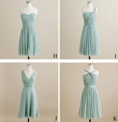 2013 Mint. A-line Sweetheart Sleeveless  knee-length  Short Chiffon Prom Dress  Short Evening Dresses - Short Bridesmaid Dresses on Etsy, $79.00