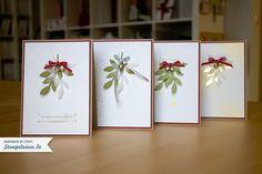 Weihnachtskarten mit zartem Zweig