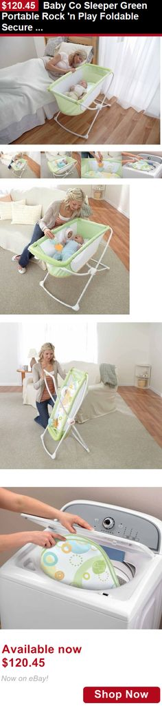 Baby Co-Sleepers: Baby Co Sleeper Green Portable Rock N Play Foldable Secure Comfort Sleeping New BUY IT NOW ONLY: $120.45