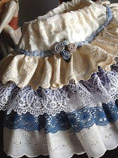 Sample Sale  Easter Sunday Iris Blue and white by Babybonbons