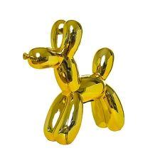 Yellow Balloon Dog Sculpture Money Decor Coin Bank - tall - Interior Illusions Plus Balloon Dog Sculpture, Yellow Balloons, Block Lettering, Dog Harness, Piggy Bank, Illusions, Eye Candy, How To Memorize Things, Sculptures