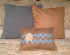 Burlap Pillow by CreativePlaces on Etsy, $21.00