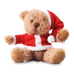 Osito con traje navideño personalizada
