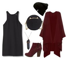 """BURGUNDY"" by jasmine-tirbany on Polyvore featuring MANGO, The Row, Breckelle's, Betsey Johnson and Vans"