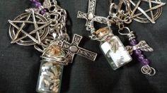 Angeles name scroll bottle and lavender bracelet. Wwwladystarsandfire.com
