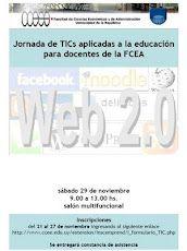 Afiche I Jornada de TIC aplicadas a la educación para docentes de la FCEA