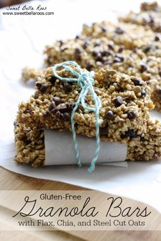 Fully Loaded Granola Bars: Gluten-Free with steel cut oats, flax, chia
