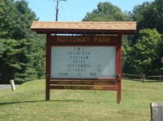 Nottoway Park in Vienna, Virginia has lovely trails and one can rent a little field to grow one's own produce.