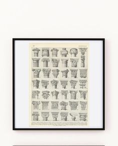 Love! Architectural Prints, Architectural Antiques, Gift Guide For Men, French Names, Sculpture Projects, French Architecture, Frame It, Free Prints, Vintage Prints
