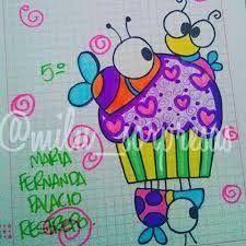 Resultado de imagen para imagenes para marcar cuadernos para niños Doodle Drawings, Easy Drawings, Doodle Art, Notebook Art, School Notebooks, Book Letters, Drawing For Kids, Drawing Ideas, Crafts To Do