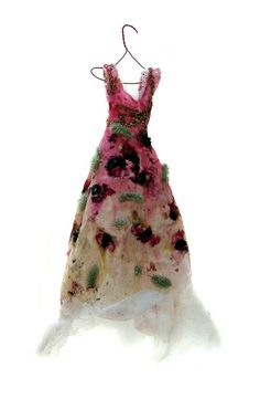 Faerie dress not sure if this is felting or handmade paper but a nice inspiration either way