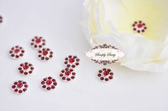 20 pcs RD100 Scarlet Red 11mm Rhinestone by simplysassysource, $15.75
