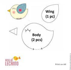 How to Make spring bird magnets out of felt. Felt Crafts Diy, Felt Diy, Pom Pom Mobile, Bird Party, Spring Birds, Diy Artwork, Felt Birds, Felt Tutorial, Diy Tutorial