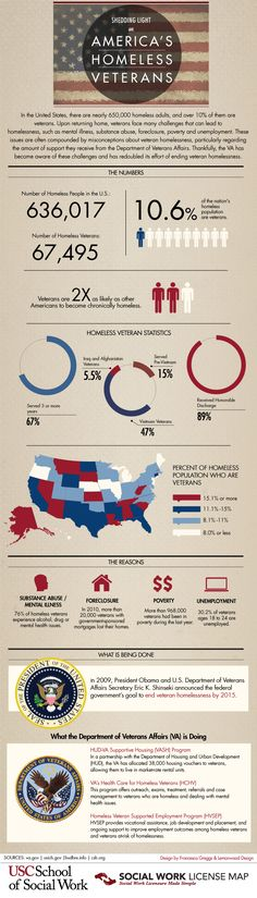 Shedding Light on America's Homeless Veterans - Infographic