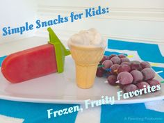 Frozen fruit snacks