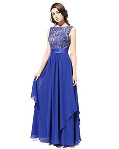 Bridesmay Long Chiffon Bridesmaid Dress Vback Evening Gown Prom Party Dress Royal blue Size 4 * You can get more details by clicking on the image. (This is an affiliate link and I receive a commission for the sales)