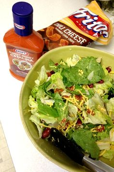 Tangy Southwest Salad - 5 minutes! Staple Ingredients! Easiest Summer Side Dish Ever! @ RusticHoney.com