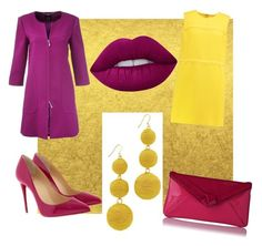 A fashion look from September 2017 featuring short dresses, purple coat and stiletto pumps. Browse and shop related looks. Kenneth Jay Lane, Lime Crime, Victoria Beckham, Christian Louboutin, Polyvore, Stuff To Buy, Shopping, Collection, Design