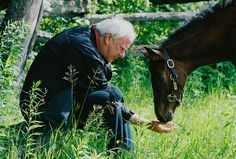 Dennis Mills with his North Light filly, Oroluce at 3 months old      (Photo Courtesy of Mike Boland)