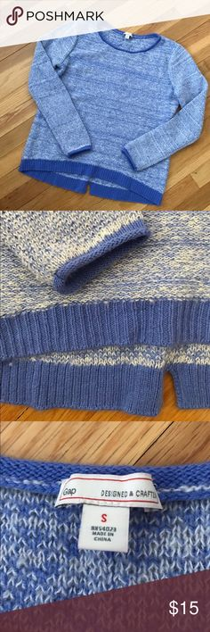 GAP Blue Marled Sweater GAP Blue Marled Sweater. Oversized comfy fit. Slightly longer in back. New condition. GAP Sweaters