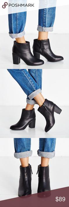 "Fold Over Bootie A sleek fold-over cuff keeps this versatile bootie right on trend, while a bold stacked heel and textured rubber sole provide superior traction and comfort.  Sizing: True to size.  - Round toe  - Foldover shaft cuff - Side zip closure - Lightly padded footbed - Approx. 3.5"" shaft height, 12"" opening circumference - Approx. 3"" heel  - Imported. BC X Free People Free People Shoes Ankle Boots & Booties"