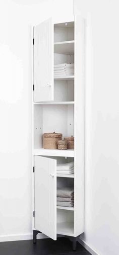 See related links to what you are looking for. Corner Storage, Bath Storage, Tall Cabinet Storage, Ikea Toilet, Toilet Closet, Homer Decor, Landry Room, Bathroom Design Inspiration, Ideas