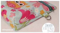 Oilcloth Zippered Pouch Sewing Tutorial from Whitney Sews