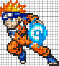Kandi Patterns for Kandi Cuffs - Characters Pony Bead Patterns Pony Bead Patterns, Kandi Patterns, Perler Patterns, Beading Patterns, Pixel Art Naruto, Pixel Art Manga, Pixel Art Templates, Perler Bead Templates, Pixel Pattern