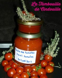 coulis et concentré de tomate Marinade Sauce, Salty Foods, Pesto Sauce, Vinaigrette, Food Hacks, Preserves, Pickles, Food And Drink, Menu