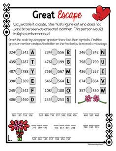 """Your students will have fun with these Valentine's Day math activities! In a """"Who Done It"""" style, students will answer questions to collect clues about who could possibly be the secret admirer. Teachers love using this for small groups, partners, or individual. It is a great way to review 2nd grade skills for kids and have fun doing so! Included is place value, 3-digit addition with regrouping, skip counting, and other review skills.{2nd / 3rd grade} #elementaryisland #valentinesdayactivities Elementary Education Activities, Fun Math Activities, Valentines Day Activities, Holiday Activities, Math Games, Free Worksheets For Kids, Free Printable Math Worksheets, Kindergarten Worksheets, First Grade Math"""