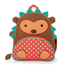 "Skip Hop Zoo Toddler Kids Insulated Backpack Hudson Hedgehog Boy, 12-inches, Brown - The backpack where fun meets function! Whimsical details and durable materials make this the perfect pack for on-the-go! Easily holds all the supplies your preschooler might need for a busy day of ""work"" and play, and the mesh side pocket adjusts to fit a juice box, sippy cup or water bottle. The..."