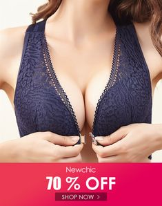I found this amazing Plus Size Wireless Front Closure Widen Criss Cross Straps Support Back Lace Bras  with US$23.99,and 14 days return or refund guarantee protect to us. --Newchic