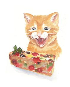 Cat Watercolour by WaterInMyPaint