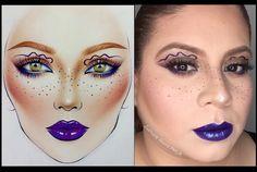 Recreation of @milk1422 face chart art