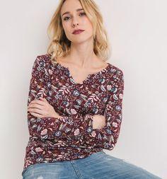 T-shirt imprimé Femme imprimé bordeaux - Promod