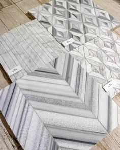 Love this tile with classic marble in new, more modern patterns!