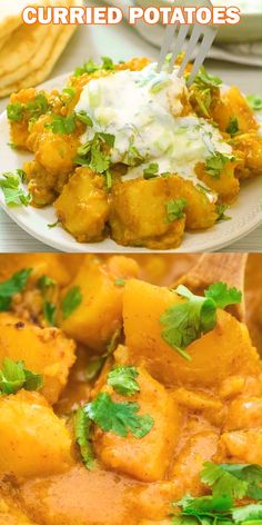 Curried Potatoes - This is a simple, tasty, and foolproof Potato Curry recipe. Made with coconut milk, this dish is fi - Cooking Recipes, Healthy Recipes, Simple Vegetarian Recipes, Simple Food Recipes, Vegetarian Main Dishes, Curry Recipes, Recipe For Curry, Simple Curry Recipe, Vegan Dinners