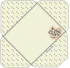 Briefumschläge selber falten - 5 schöne Schablonen-dekoking-com-3